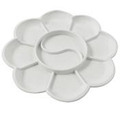 MassMall 10-Well Round Plastic Artist Paint Tray Palette