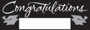 Pack of 6 Black and Silver Giant Graduation Party Banners 1.5m