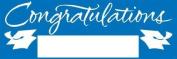 Pack of 6 True Blue and White Giant Graduation Party Banners 1.5m