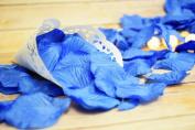 Dark Blue Silk Rose Petals Confetti for Weddings in Bulk by PaperLanternStore