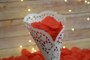 Red Silk Rose Petals Confetti for Weddings in Bulk by PaperLanternStore