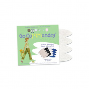 GoCommandos Ev'ylope of 10 100% certified organic cotton panty free patches