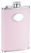 """Visol """"Daydream"""" Leather Stainless Steel Hip Flask, 240ml, Pink"""