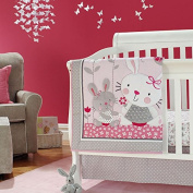 New Baby Girls Pink Neutral Animal 7pcs Crib Cot Bedding Set with Bumper