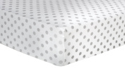 Trend Lab Grey Dot Deluxe Flannel Fitted Crib Sheet