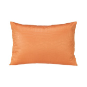 Sweet Potato Calliope Small Sham, Bird Print, Tangerine/Orange/Grey/White
