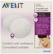 Philips Avent Washable Nursing Pads, 6-count, New