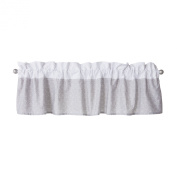Trend Lab Window Valance, Grey and White Circles