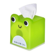 Moolecole Cartoon Square Tissue Box Lovely Style Roll Tissue Box Green