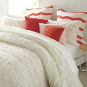 DKNY Urban Sanctuary Ivory Coral king comforter set cotton