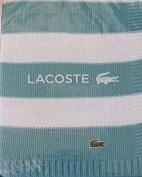 Lacoste Striped Knit Stillwater/White Throw