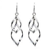 Sephla Sterling Silver Interlocking Diamond Spirals Earrings