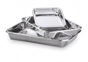 Hammer Stahl 3-piece Rectangular Bake Pan Set