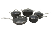 CONCORD 10 PC Hard Anodized Non Stick Cookware Set