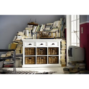 NovaSolo Halifax Buffet with 6 Baskets, White