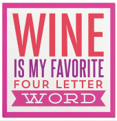 Slant Cocktail Napkins 20 Count - Wine Is My Favourite Four Letter Word