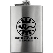 Army 116th Cavalry Brigade Subdued 240ml Flask