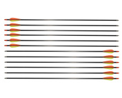 12 Pack Outdoor Carbon Fibre Arrows Archery 80cm with Changeable Tips for Compound Bow or Recurve Bow