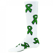 Red Lion Green Ribbon Socks Knee High Athletic