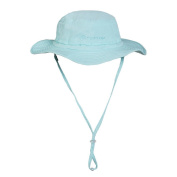 TECTOP Quick-Dry Camping Hat Outdoor Sunhat Beach Sun Visor Shade Straw Hat Wide Brim Cap With Adjustable Chin Strap Blue