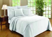 Williamsburg William and Mary Matelasse Full Bedspread, White