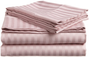 European Comfort Luxury Soft Wrinkle Resistant Striped QUEEN Sheet Set, LAVENDER