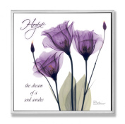 Stupell Home Hope Purple Flower XRay Art Wall Plaque