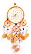 43cm Long Capiz Shell Hanging Native American Inspired Dream-catcher