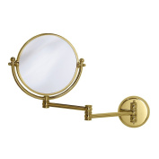Gatco 1410 Wall Mount Mirror with 36cm Swing Arm Extents, Brass