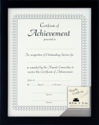 Gallery Solutions Black Document Wall Frame, 22cm by 28cm