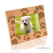 Kate Posh - Doggie Paw Prints Wood Picture Frame