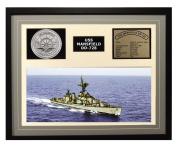 Navy Emporium USS Mansfield DD 728 Framed Navy Ship Display Grey