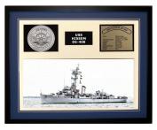 Navy Emporium USS Hissem DE 400 Framed Navy Ship Display Blue