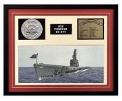 Navy Emporium USS Cobbler SS 344 Framed Navy Ship Display Burgundy