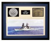 Navy Emporium USS Cushing DD 985 Framed Navy Ship Display Blue