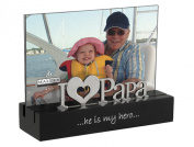 Malden I Love Papa Desktop Expressions Frame with Silver Word Attachment, 10cm by 15cm