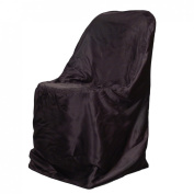 LinenTablecloth Satin Folding Chair Cover Black