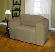 Taupe Jersey Stretch Slipcover, Couch Cover, Sofa, Love Seat, Chair, Recliner, Kashi Home