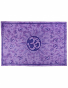 Sunshine Joy Om Sun Tie-Dye Tapestry - Beach Sheet - Hanging Wall Art - Perfect for Meditation and Yoga