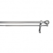 Versailles Home Fashions 2.5cm Diameter Double Rod Set w/ Ball Finial 120cm - 220cm , Pewter