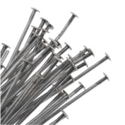 Antiqued Silver Plated Head Pins - 21 Gauge 7.6cm