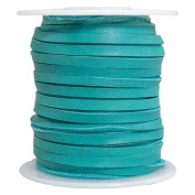 Springfield Leather Company 0.3cm x 15m Turquoise Coloured Leather Deer Lace
