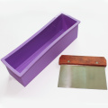 X-Haibei Flexible Soap Loaf Mould Straight Stainless Steel Soap Cutter Slicer Makes