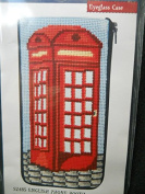 Stitch and Zip Eyeglass case sz 485 English Phone Booth