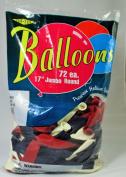 43cm Balloons, 3 Colour PATRIOTIC ASSORTMENT (red, white, & blue), Helium Quality Latex, 43cm Jumbo Round, Tuf-Tex (#1 Premium Brand)