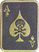 Skull Ace Card Gambling Winner Playing Card Casino Las Vegas Logo Lucky Biker Jacket T shirt Patch Sew Iron on Embroidered Badge Sign Costum