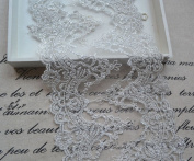 13cm - 0.3cm Wide Cotton Embroidery Lace trim Clothing Supply by 1 yard In Silver