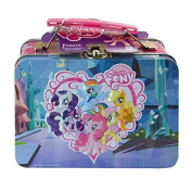 "My Little Pony ""Friendship Is Magic"" Small Storage Lunch Tin! Featuring Twilight Sparkle, Rarity, Rainbow Dash, Applejack, Fluttershy & Pinkie Pie! Plus Bonus 48pc. Puzzle Inside!"