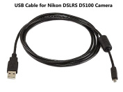 UC-E6 USB Cable for Nikon DSLRS D5100 Camera, and USB Computer Cord for Nikon DSLRS D5100