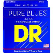 DR Strings PURE BLUES Lite 4-String Bass Strings